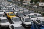 ترافیک سنگین در اکثر معابر وبزرگراههای شهر تهران
