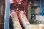 تولید بزرگترین شمش فولادی خاورمیانه به روش ریختهگری پیوسته در اسفراین